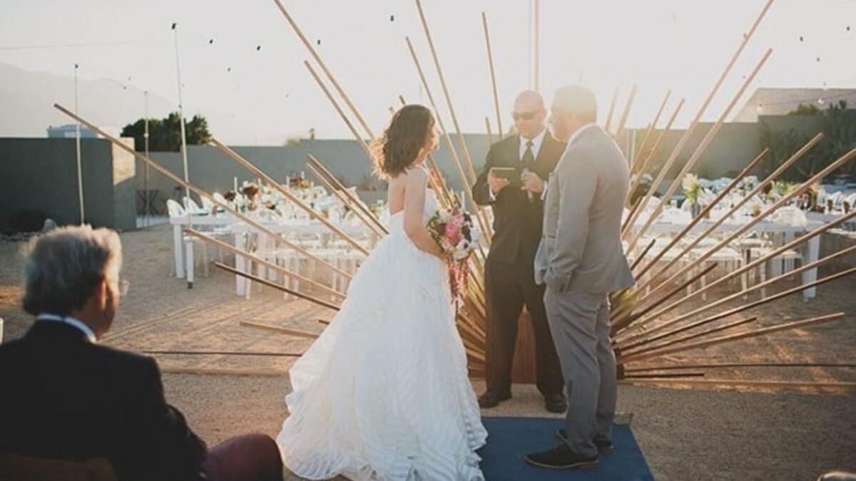 證婚儀式的主題背景,吸引大家的目光與焦點