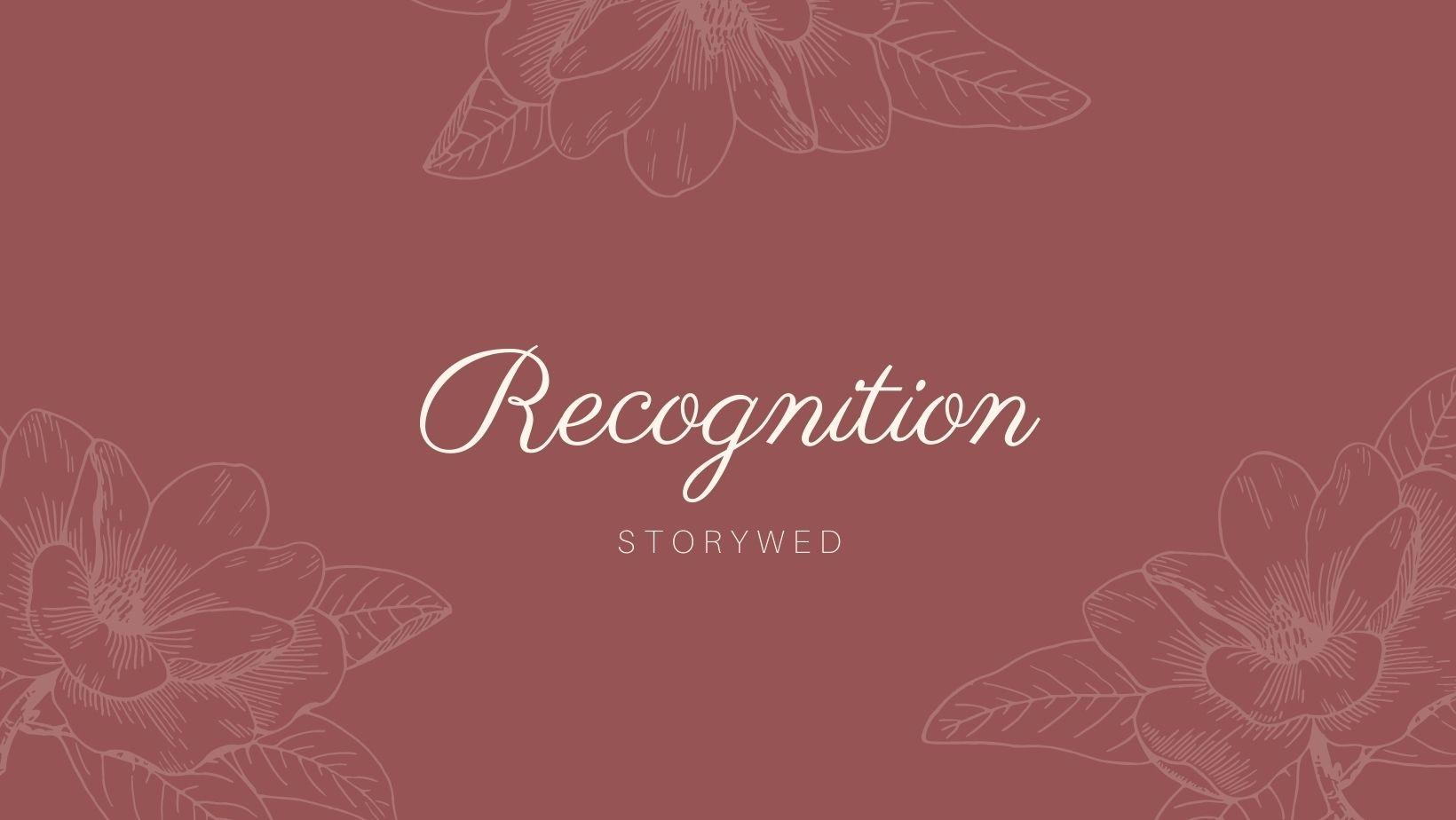 Recognition 幸福故事館婚禮顧問。好評