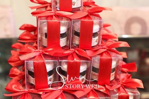 甜蜜蜜「透明盒裝」奧地利D'arbo果醬小禮盒(紅色緞帶)