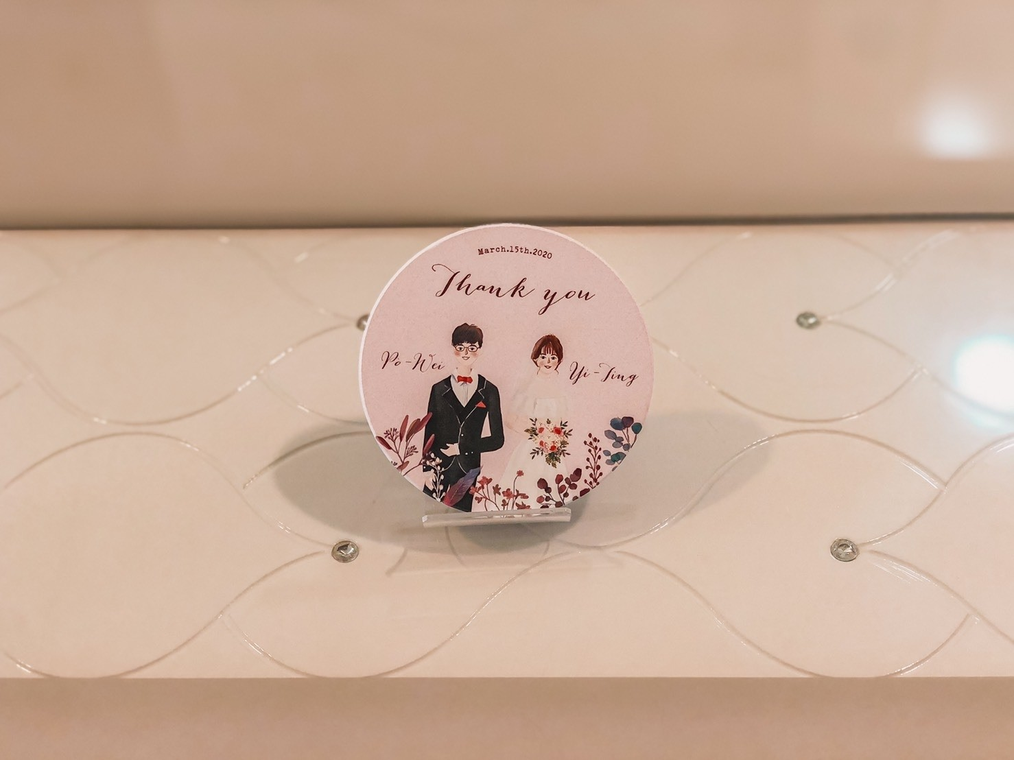 精緻婚禮小物-客製化印刷杯墊(可客製)