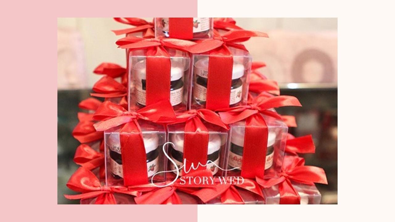 甜蜜蜜「透明盒裝」奧地利D'arbo果醬小禮盒 - 紅色緞帶(D)