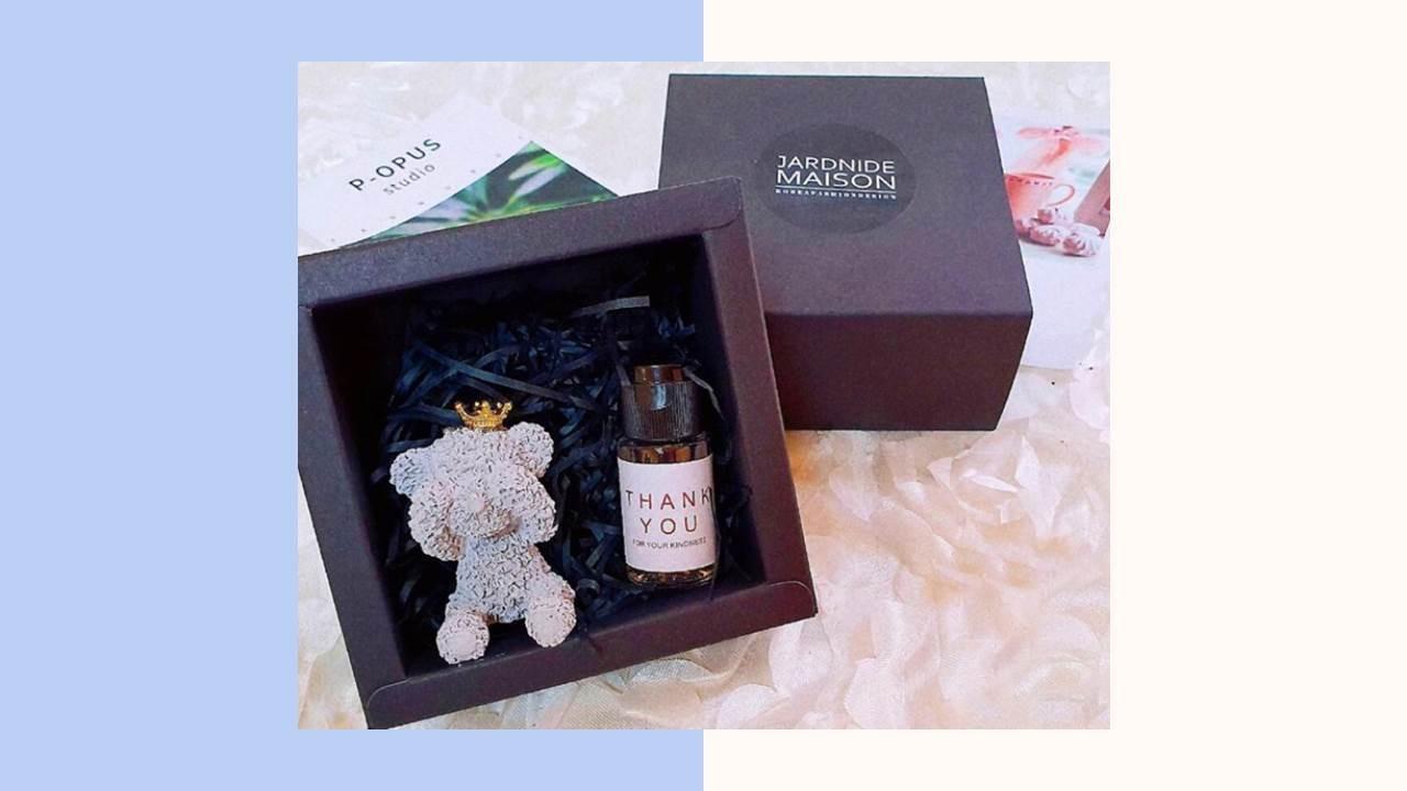 害羞熊擴香石 - 禮盒組附提袋(B)