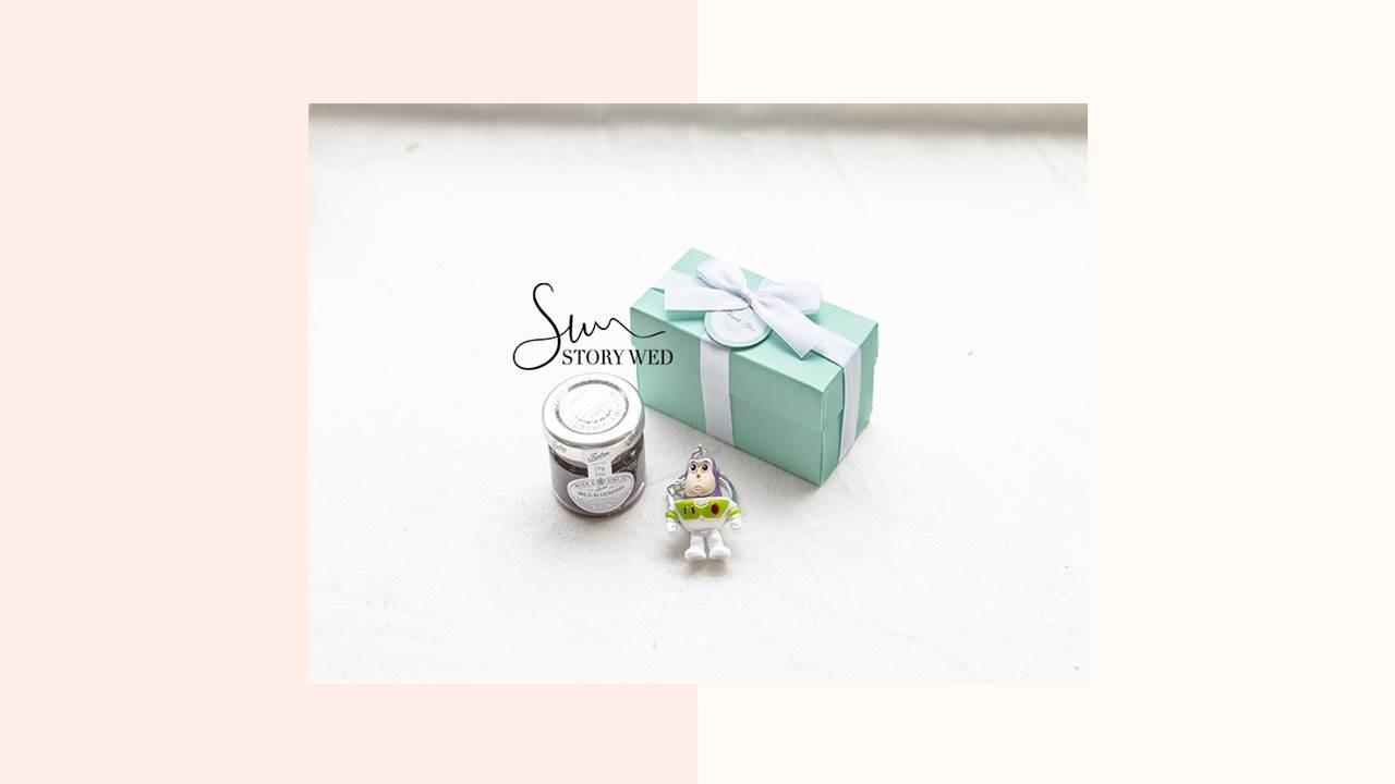 Double Love Tiffany盒 玩具總動員鑰匙圈+果醬小禮盒(D)