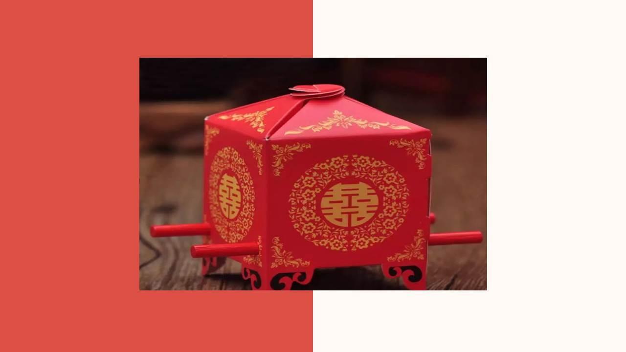 幸福花轎喜盒糖 (50入) 喜糖盒(B)