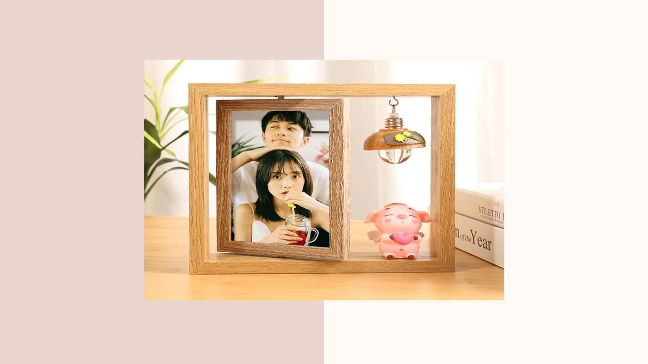 木質框面相片擺飾(C)