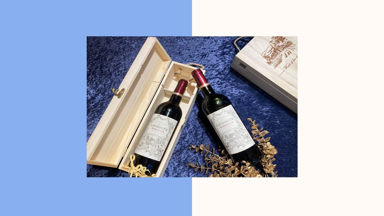 紅酒木盒包裝盒酒箱(C)