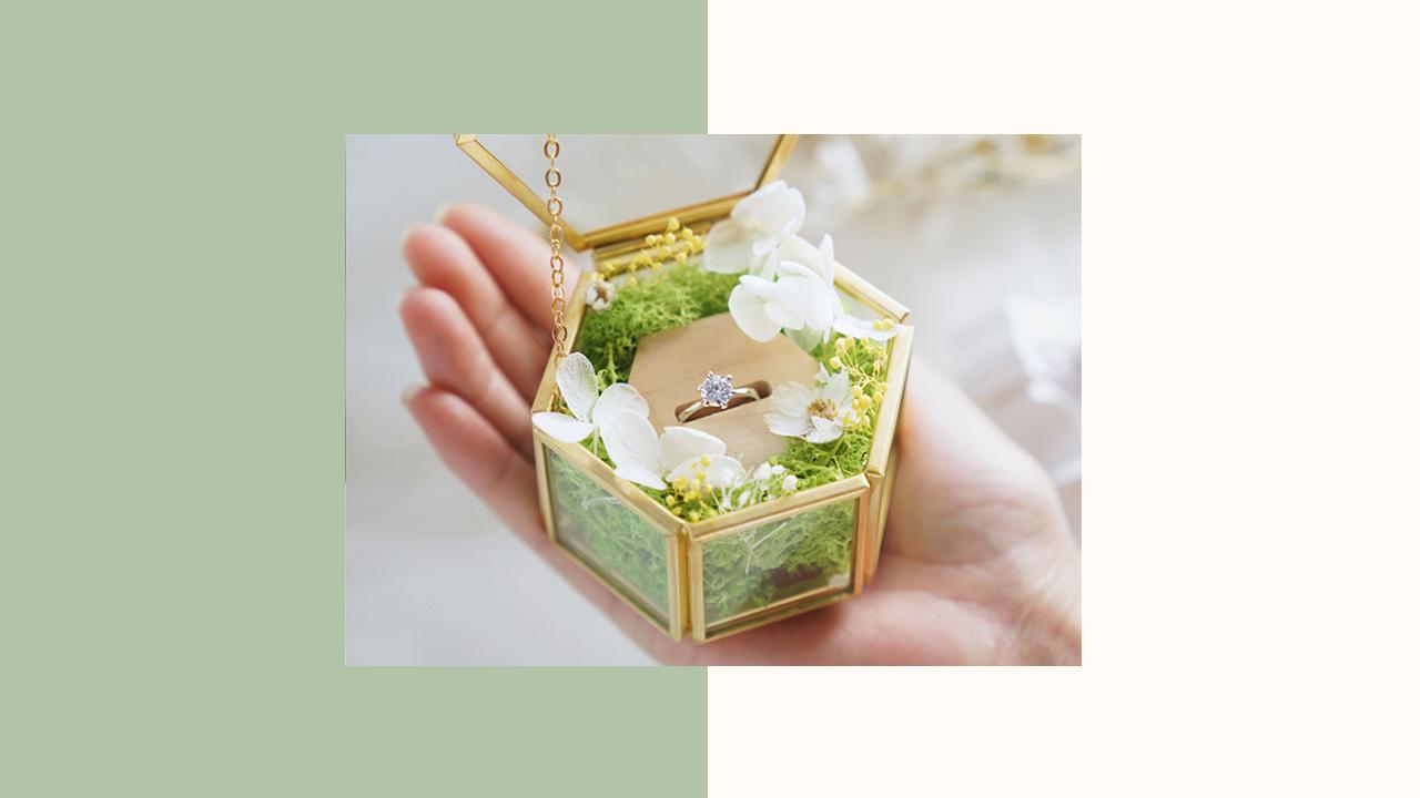 永生花交換戒指盒(C)
