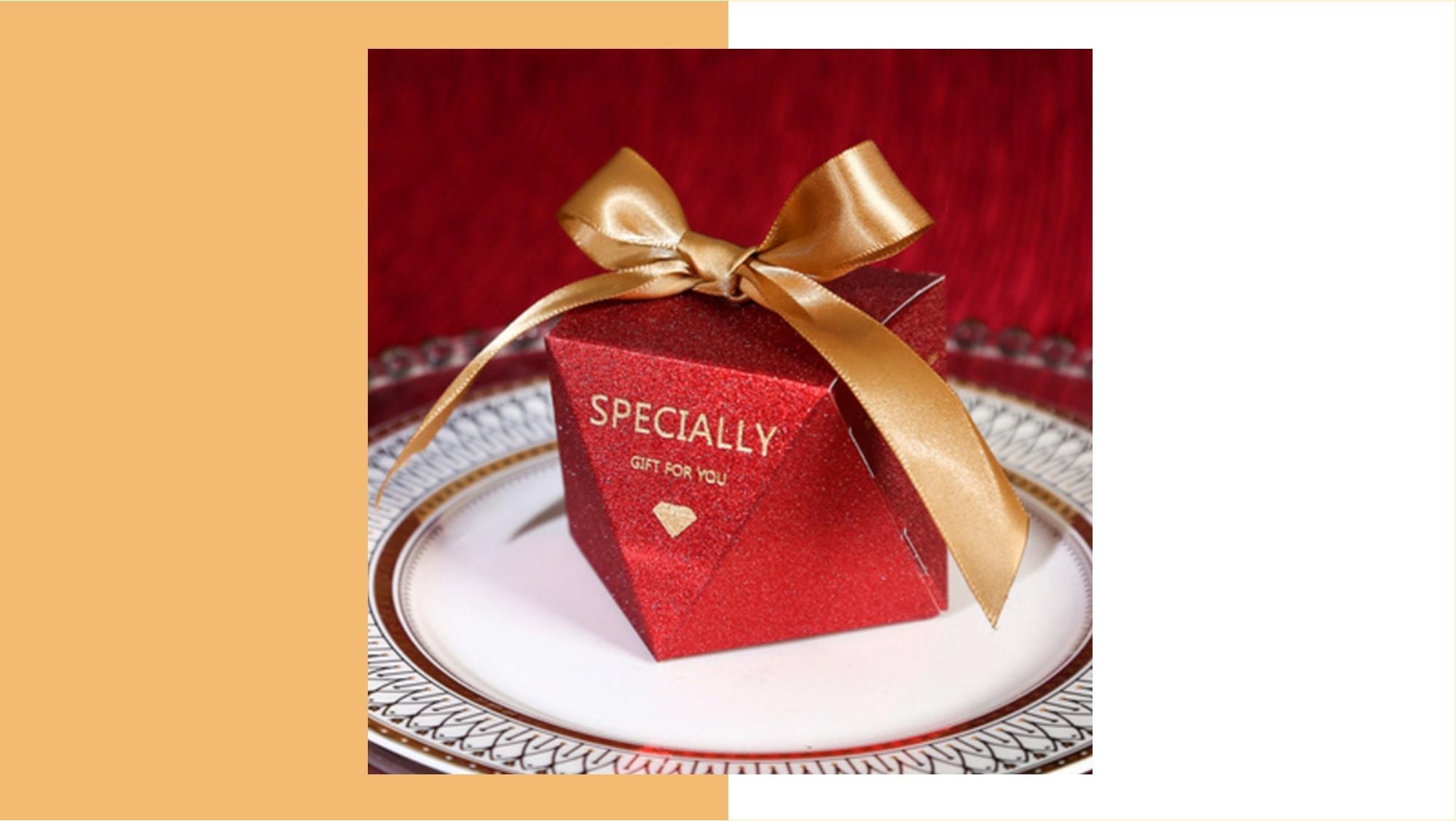 精緻緞帶喜糖盒(C)