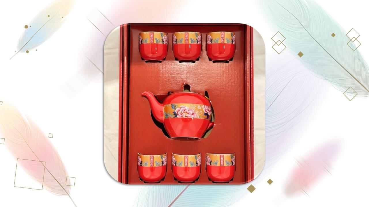 【茶具組】百年好合茶器組(6入)圓弧