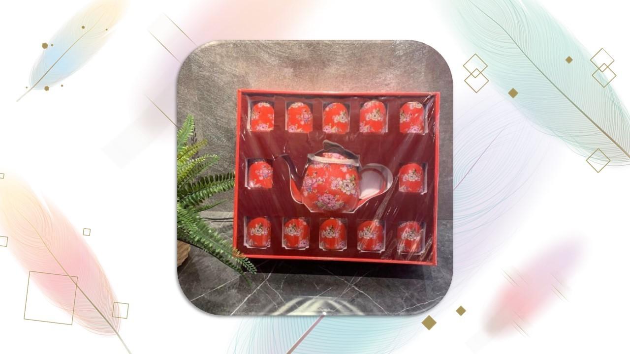 【茶具組】百年好合茶器組(12入)扁壺
