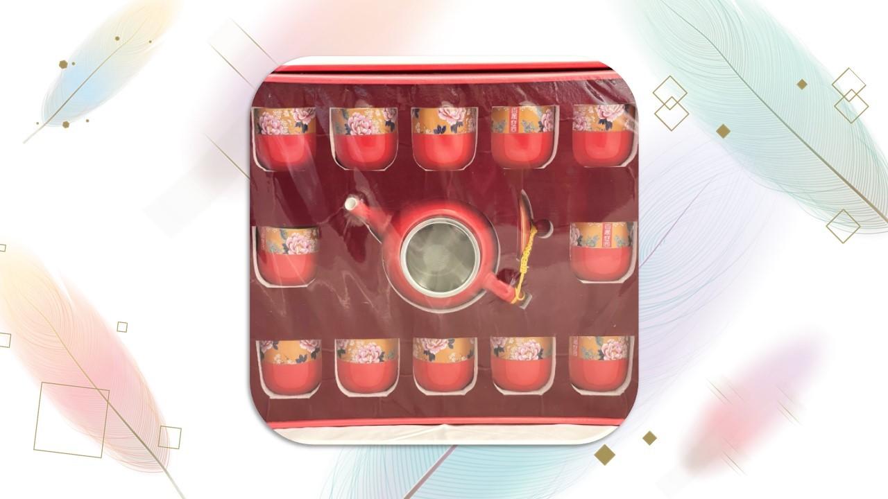 【茶具組】百年好合茶器組(12入)圓壺