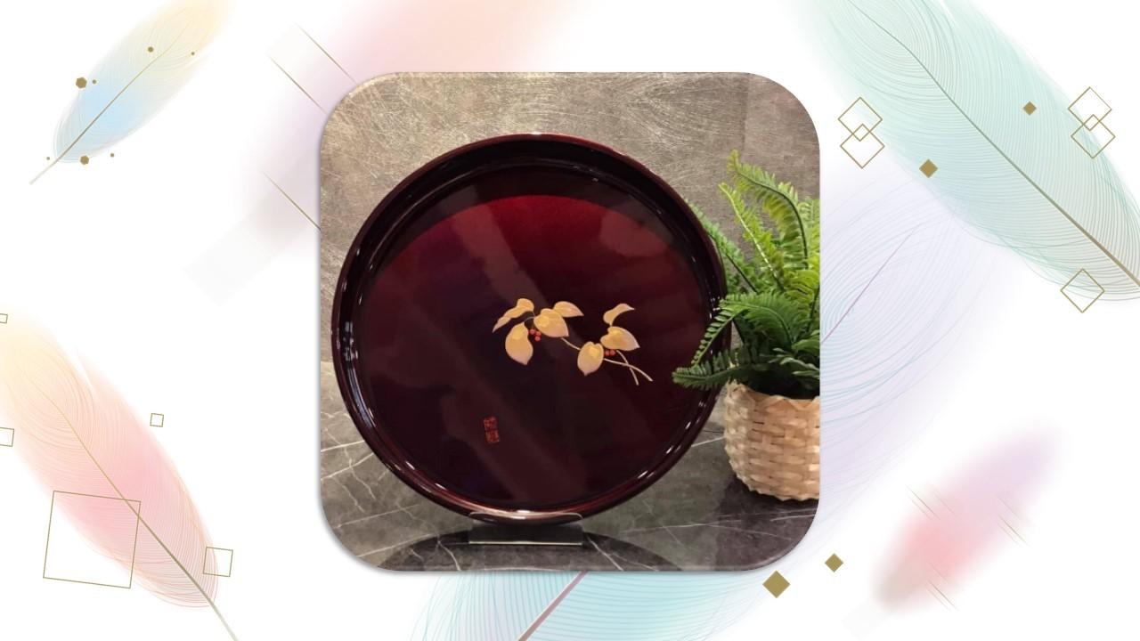【茶盤】{金枝玉葉069-74}漆器-茶盤